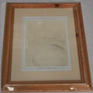 Winnie the Pooh and friends framed line sketches 2 styles